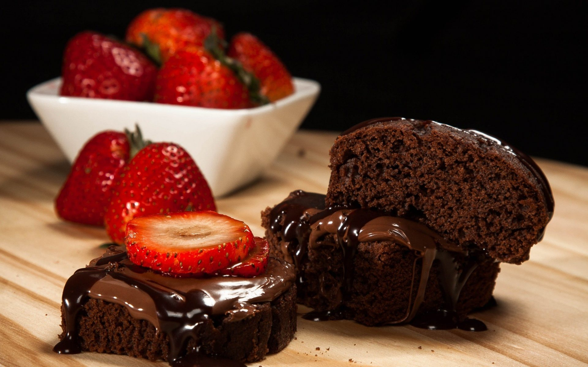 Chocolate Strawberry Cake Full HD Desktop Wallpapers 1080p 1920x1200