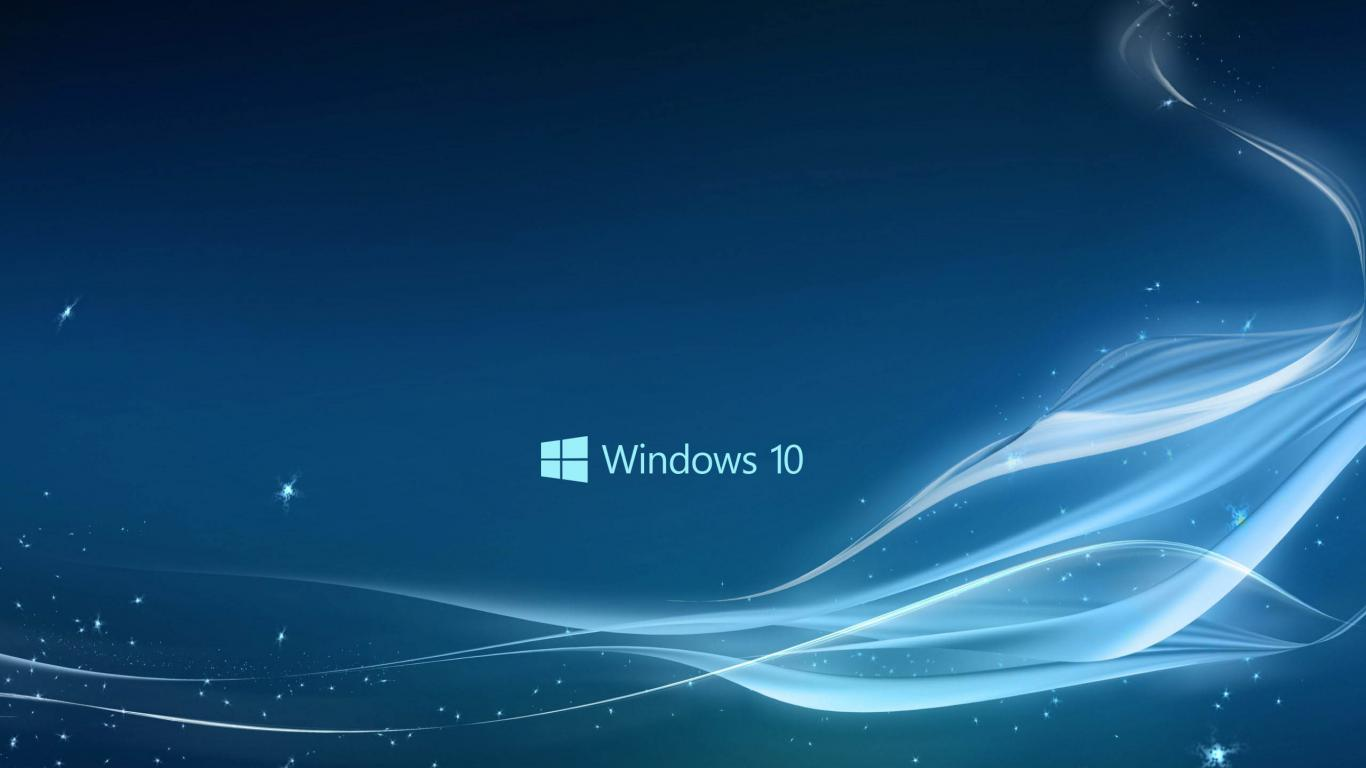 Windows 10 Wallpaper in Blue Abstract Stars and Waves HD Wallpapers 1366x768