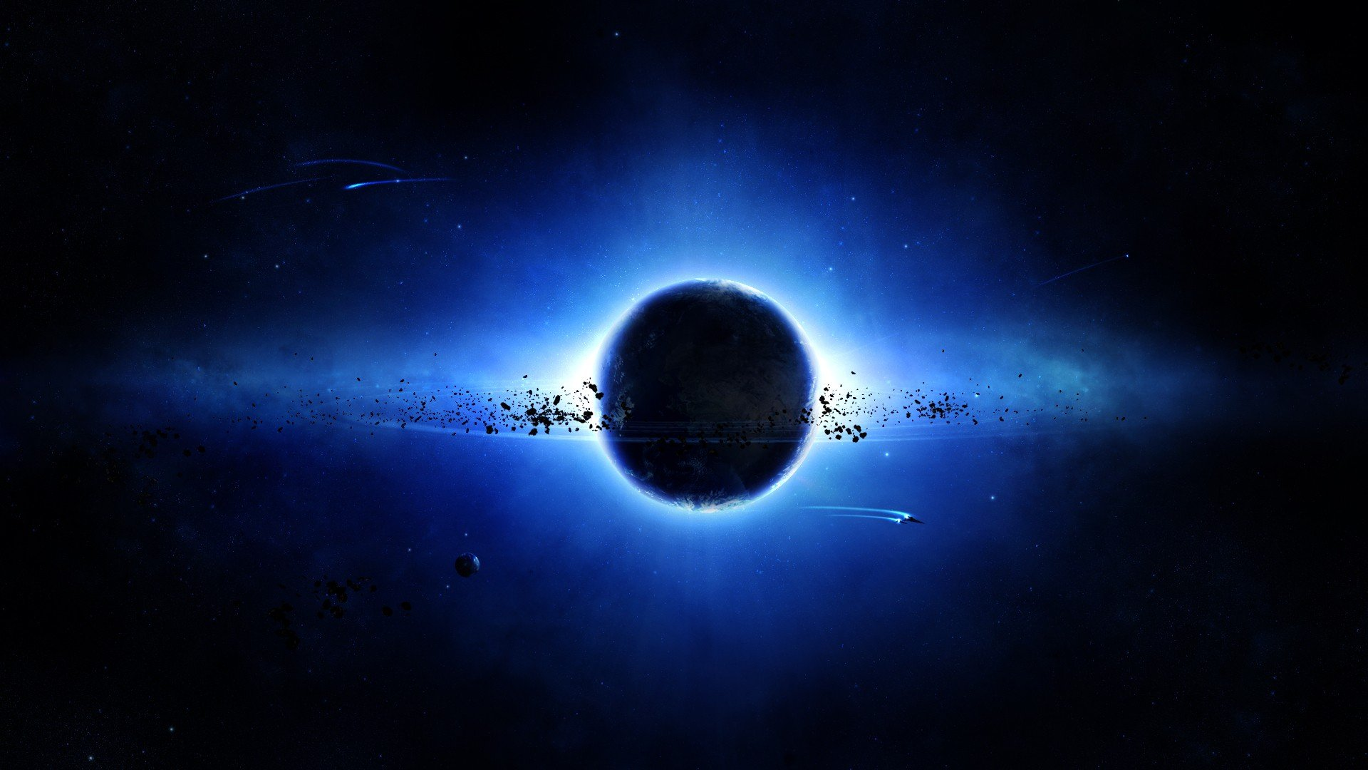 Dark blue space wallpaper wallpapersafari - Black space wallpaper ...