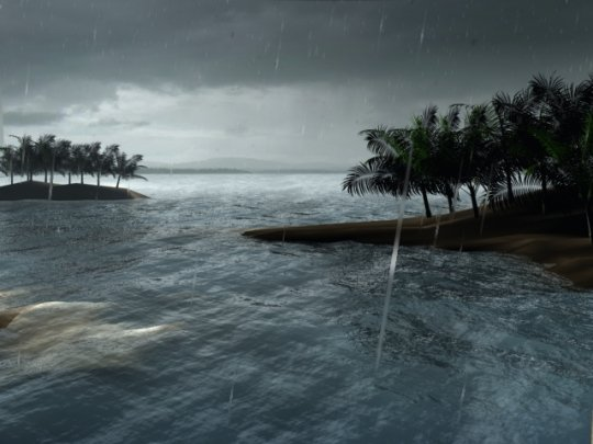 3D Animated Tropical Storm Screensaver with Sound   download and 540x405