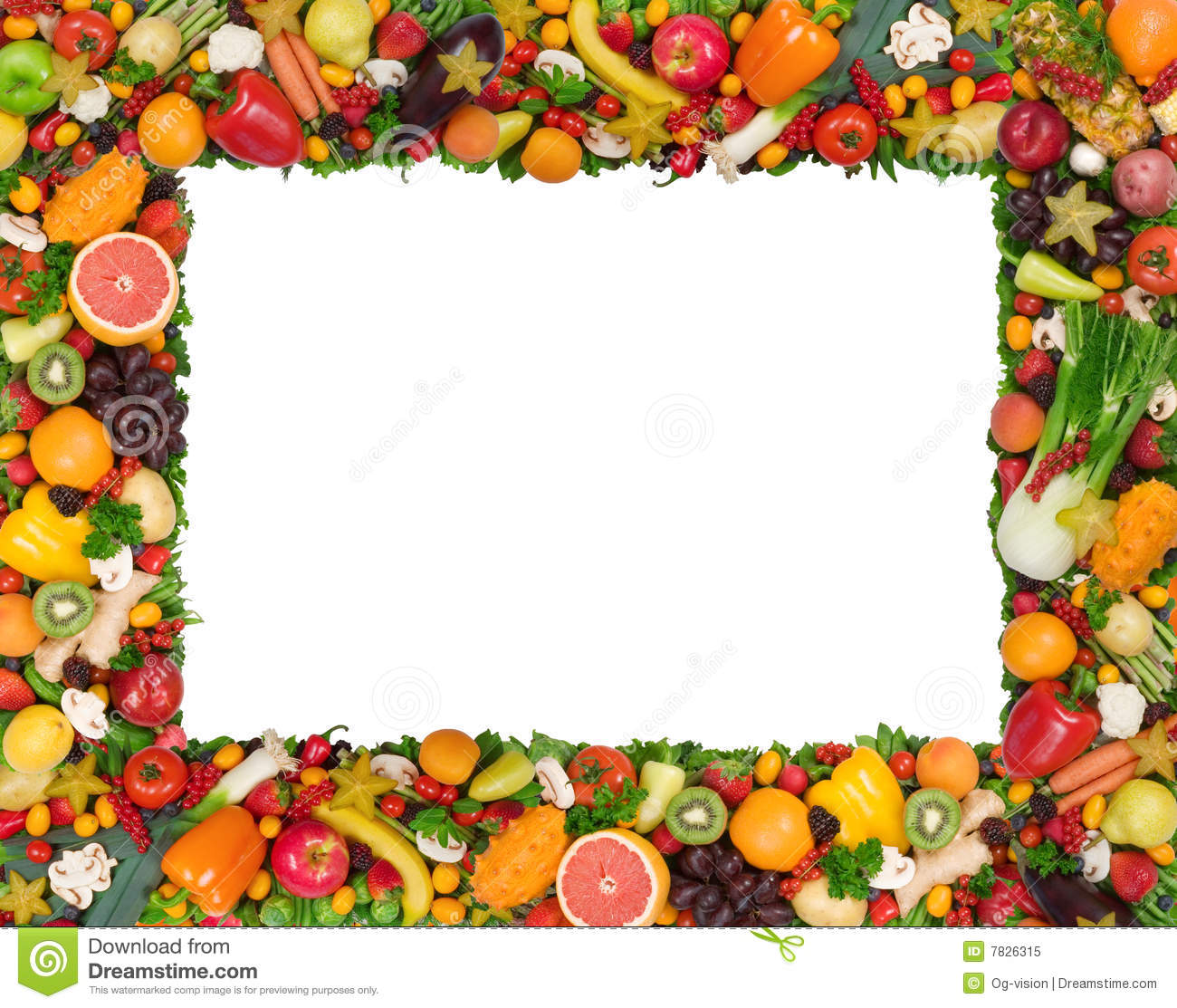 Fruit And Vegetable Borders Stock Image HD Walls Find Wallpapers 1300x1113