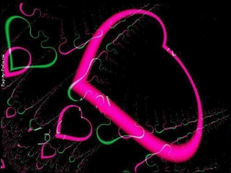 Neon green pink hearts Twitter Backgrounds   Pimp My Profilecom 800x600