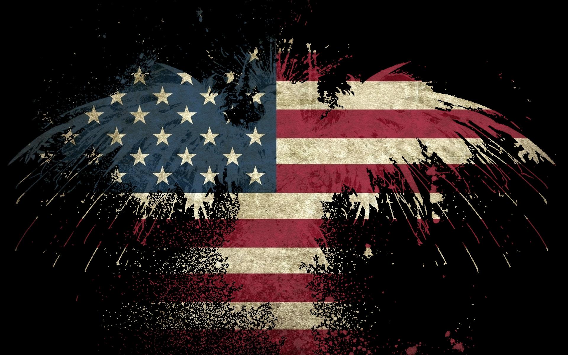 USA America flag eagle wallpaper background 1920x1200