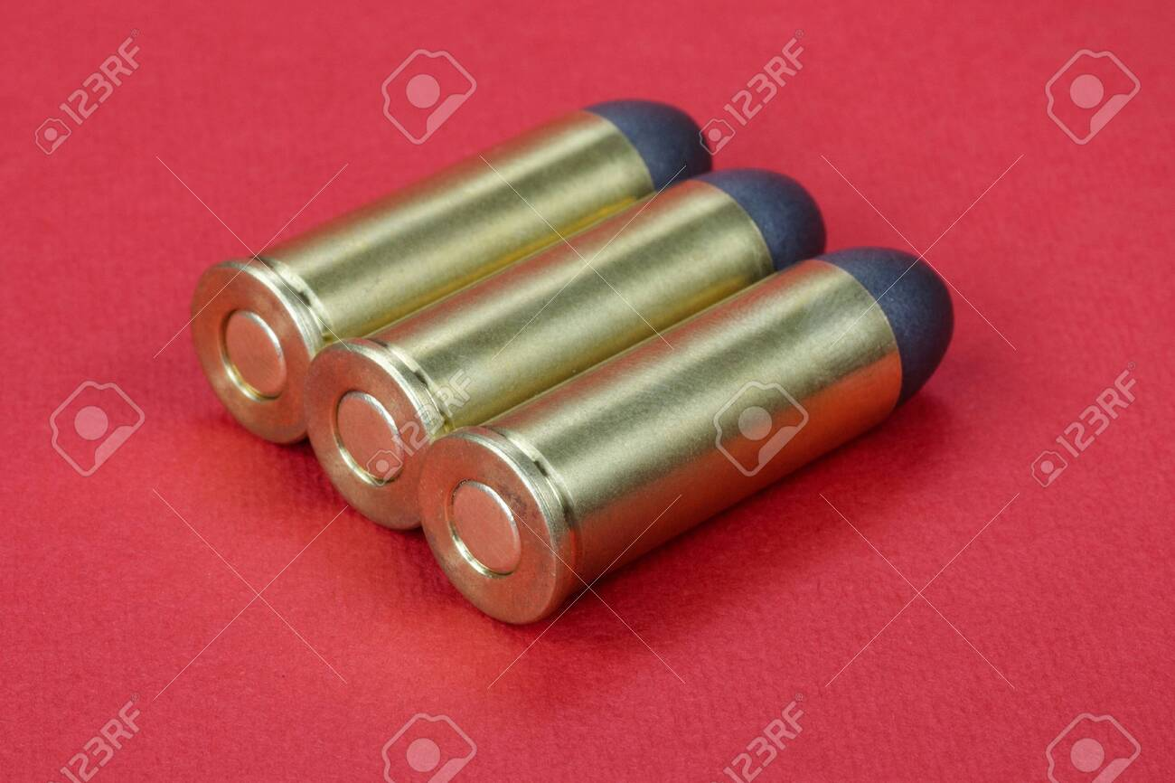 Black powder Revolver Rounds 45 Cal Dating To 1872 On Red 1300x866