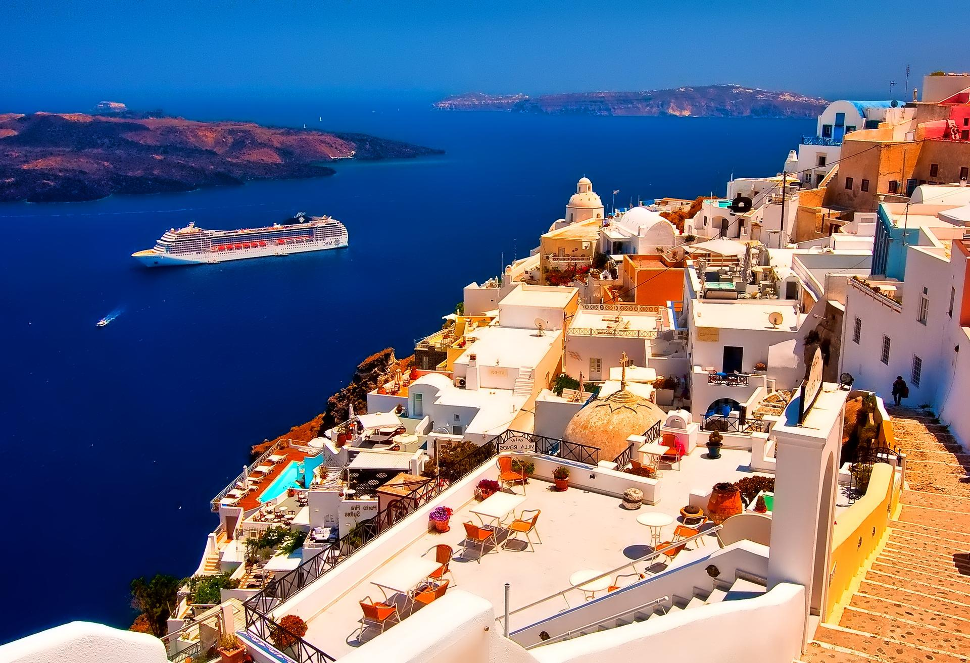 34] Pictures of Santorini Greece Wallpaper on WallpaperSafari 1920x1313