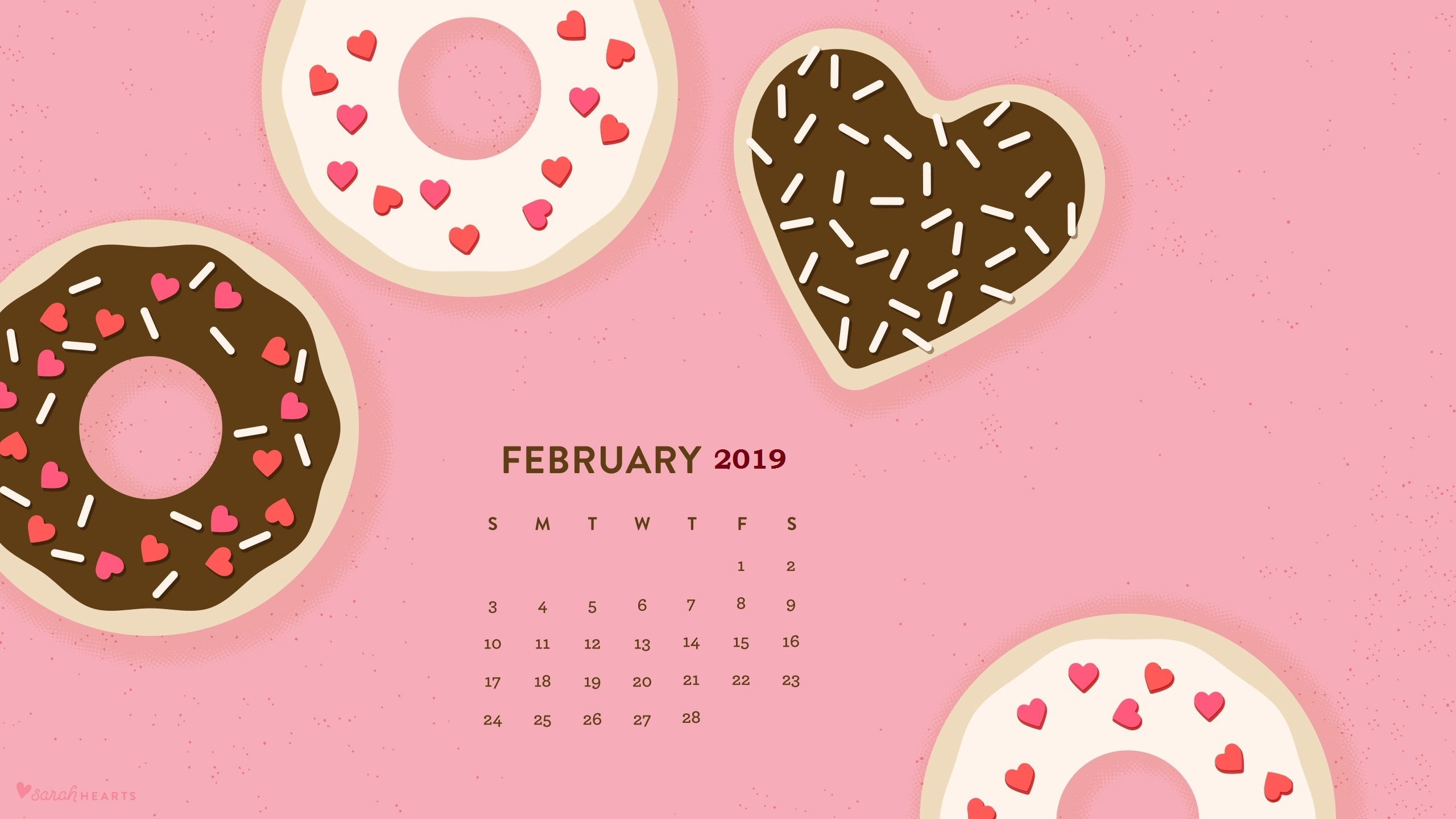 February 2019 Calendar Wallpapers Calendar 2019 2560x1440