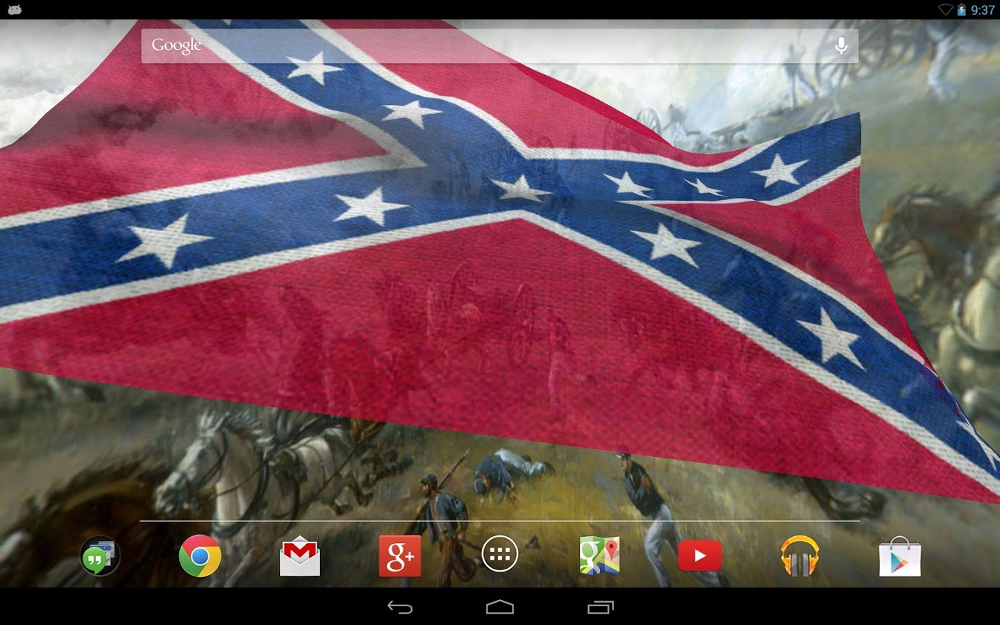 Rebel Flag Live Wallpaper   screenshot 1440x900