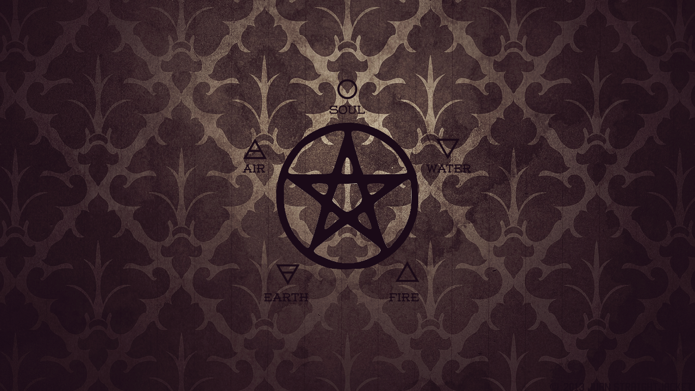Wiccan Pentacle Wallpaper 1366x768