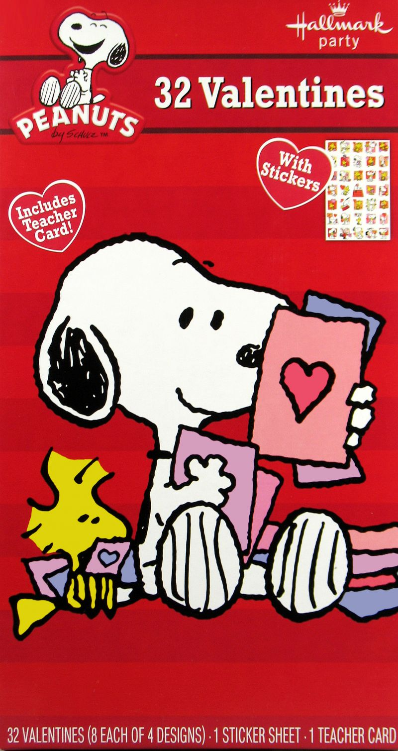 Snoopy Valentines Day Cards With Stickers Snoopn4pnutscom 800x1509