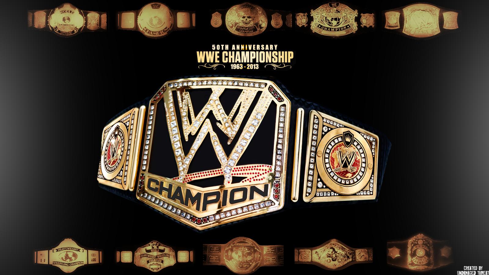 WWE Championship 50th Anniversary Wallpaper created by Undamaged 1600x900