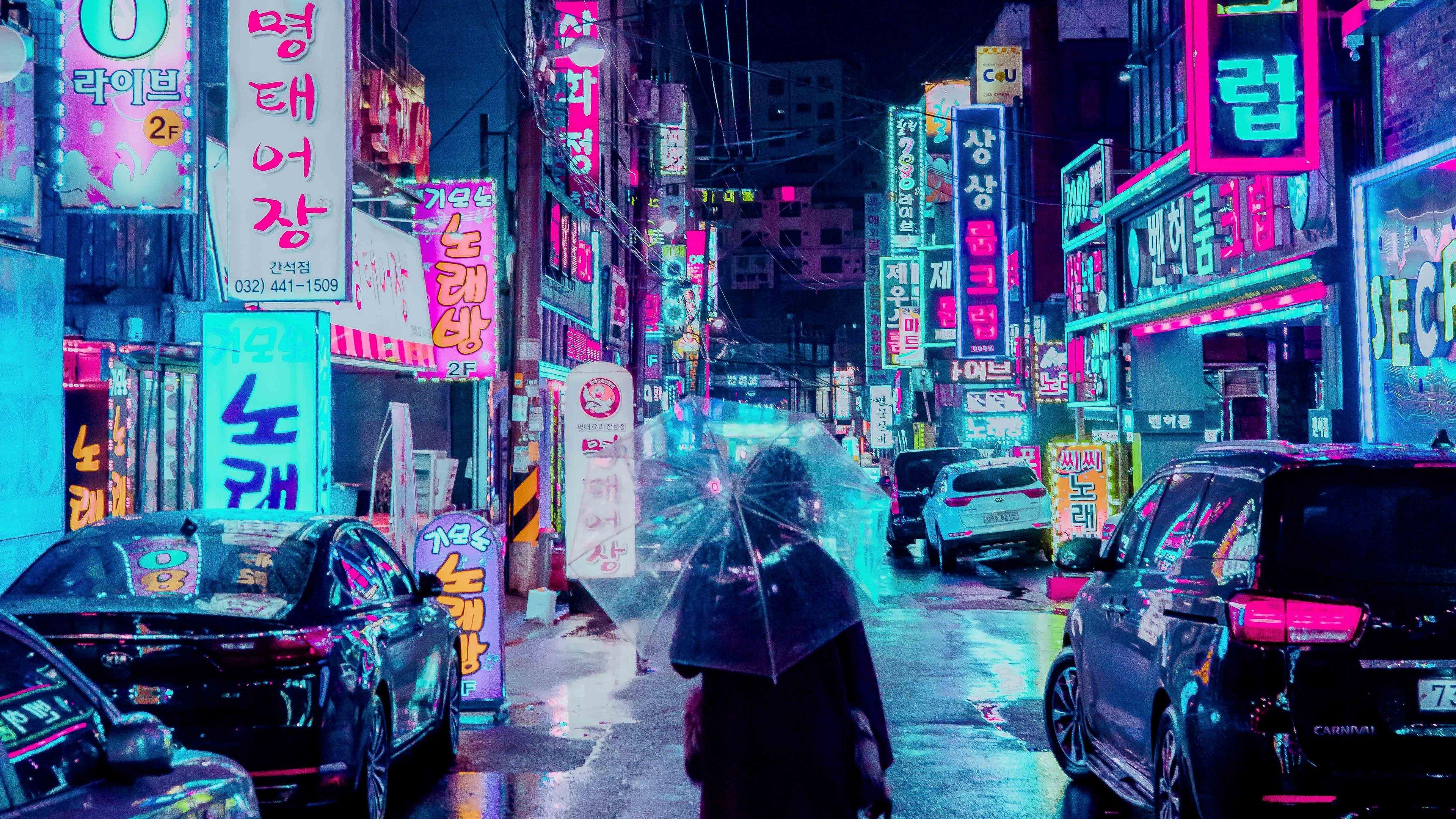 Neon Street Wallpapers   Top Neon Street Backgrounds 3840x2160