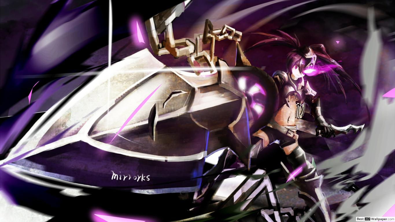 IBRS Black Rock Shooter HD wallpaper download 1366x768