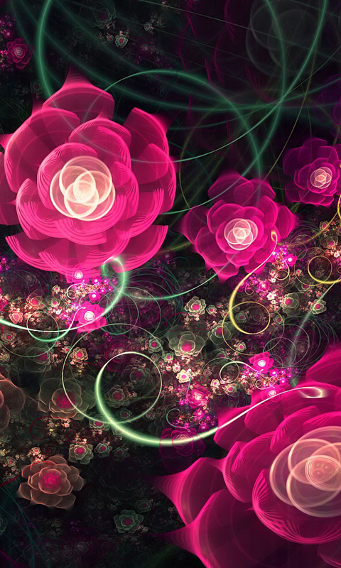 abstract flowers cell phone wallpapers 480x800