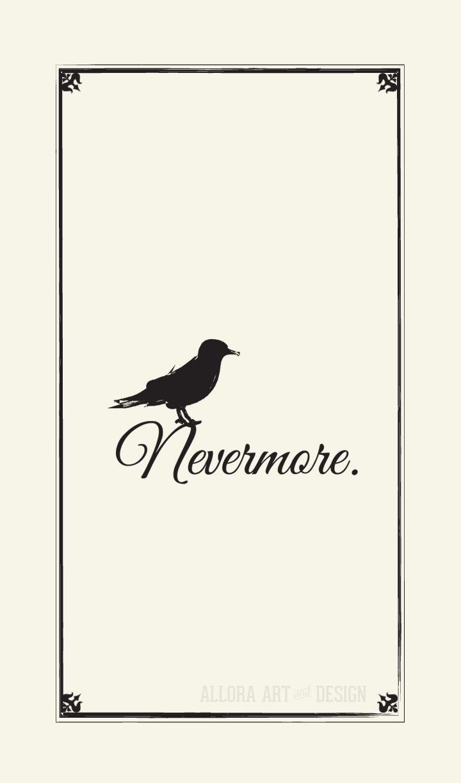 nevermore phone wallpaper nevermore raven poe edgarallanpoe 720x1224