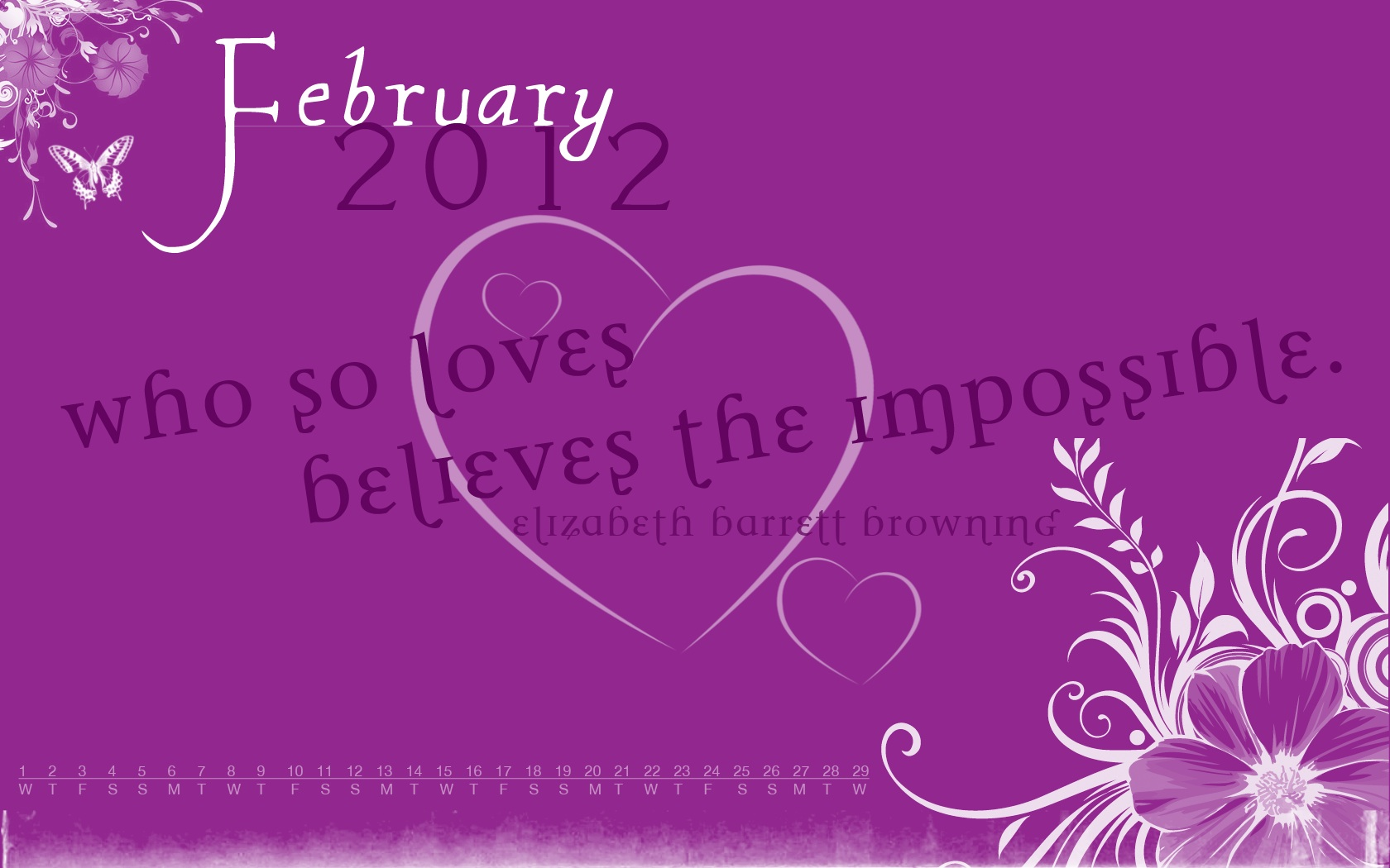February 3rd 2012 Desktop Wallpaper Calendars February 2012 1680x1050