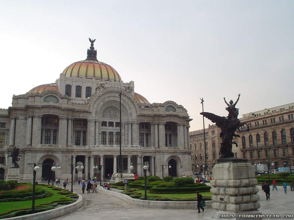 pixel Desktop Wallpapers Palace Of Fine Arts Mexico City Wallpapers 1024x768
