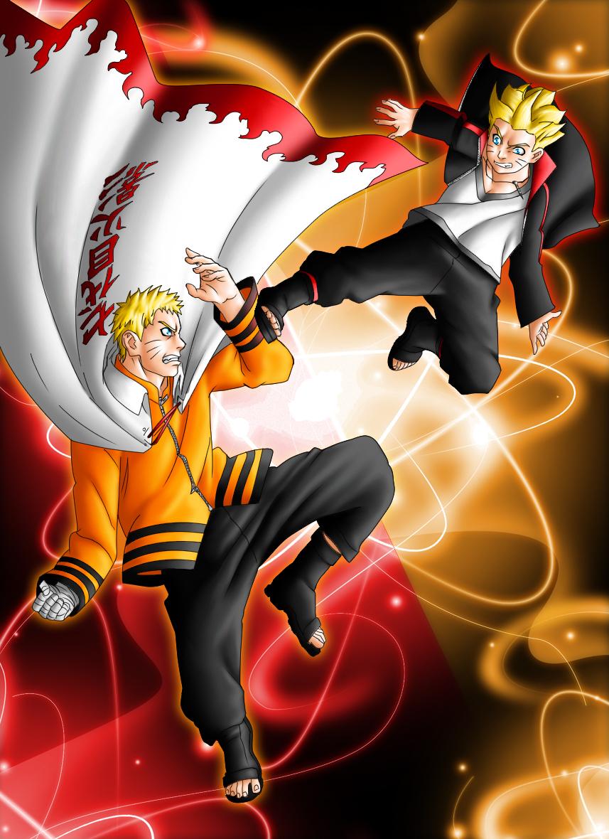 Naruto and Boruto Family Clash by grivitt 857x1180