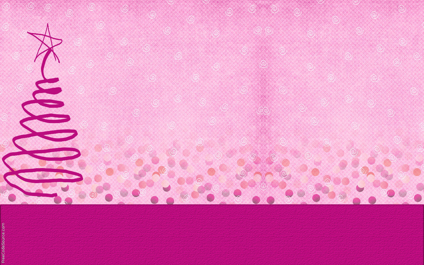 Pink Christmas Backgrounds 1440x900