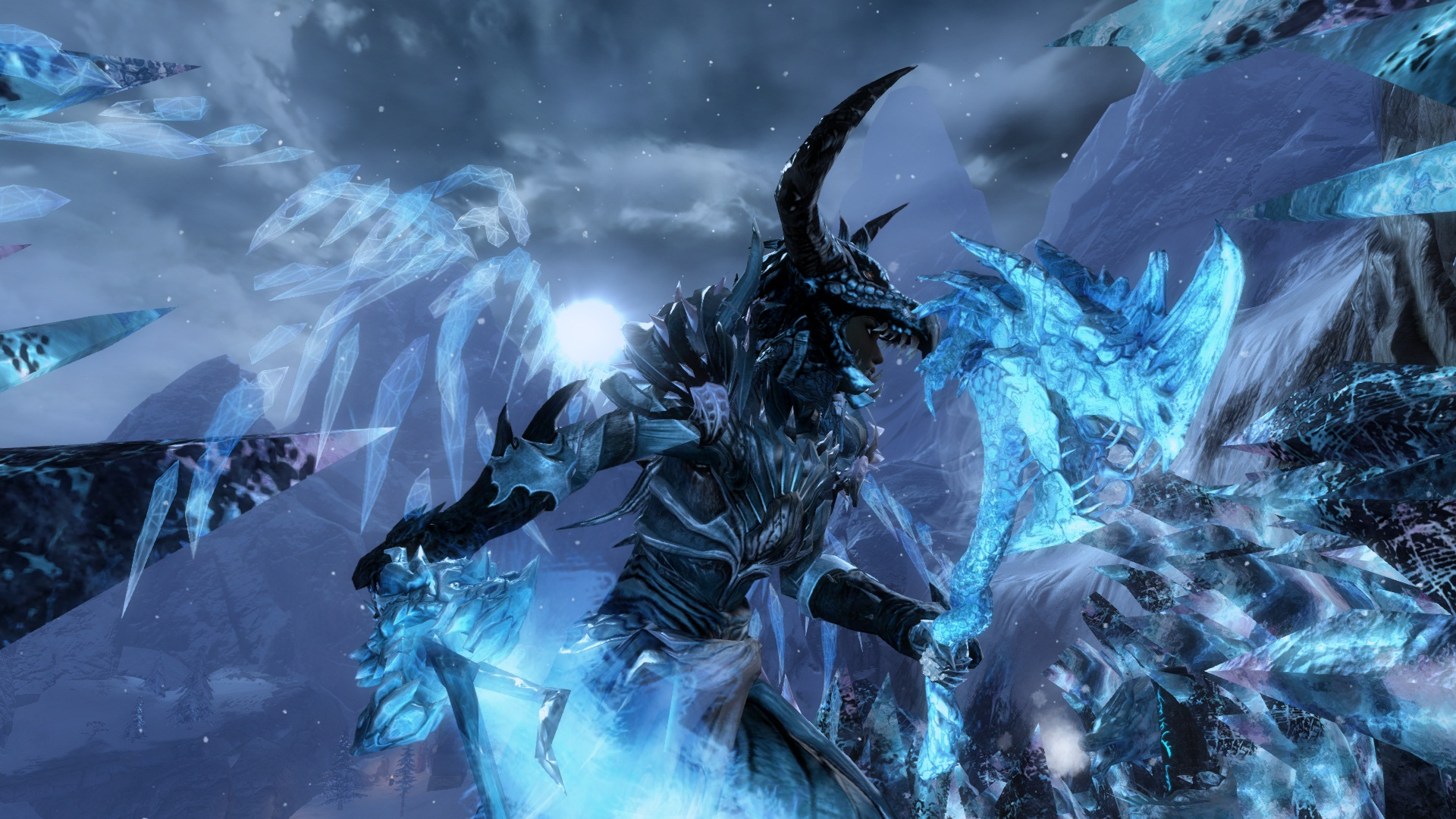 Dextra the Corrupted Ice Dragon Guild Wars 2 1920x1080