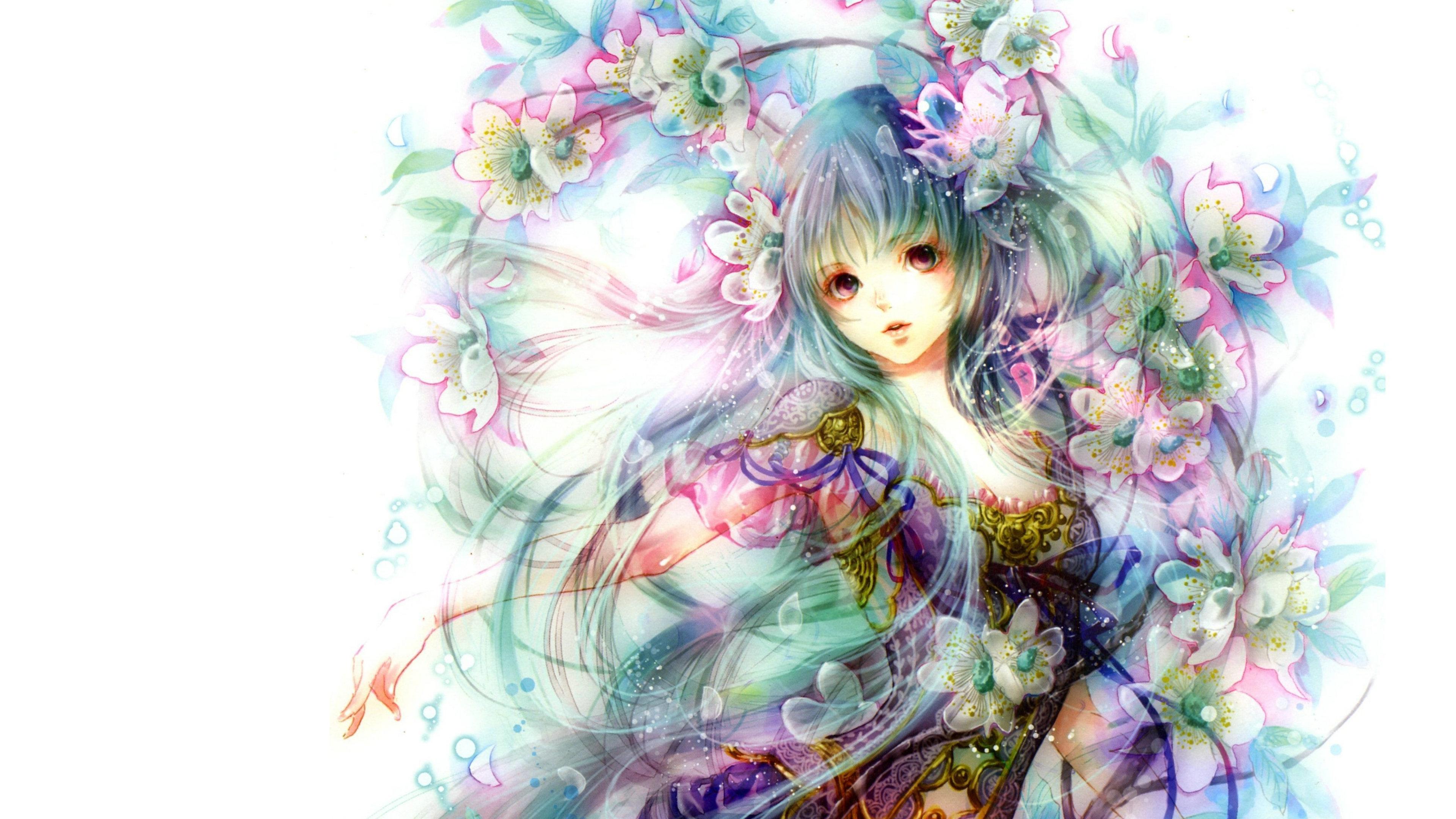 Beautiful hd anime wallpaper wallpapersafari - Animated girl wallpaper free download ...