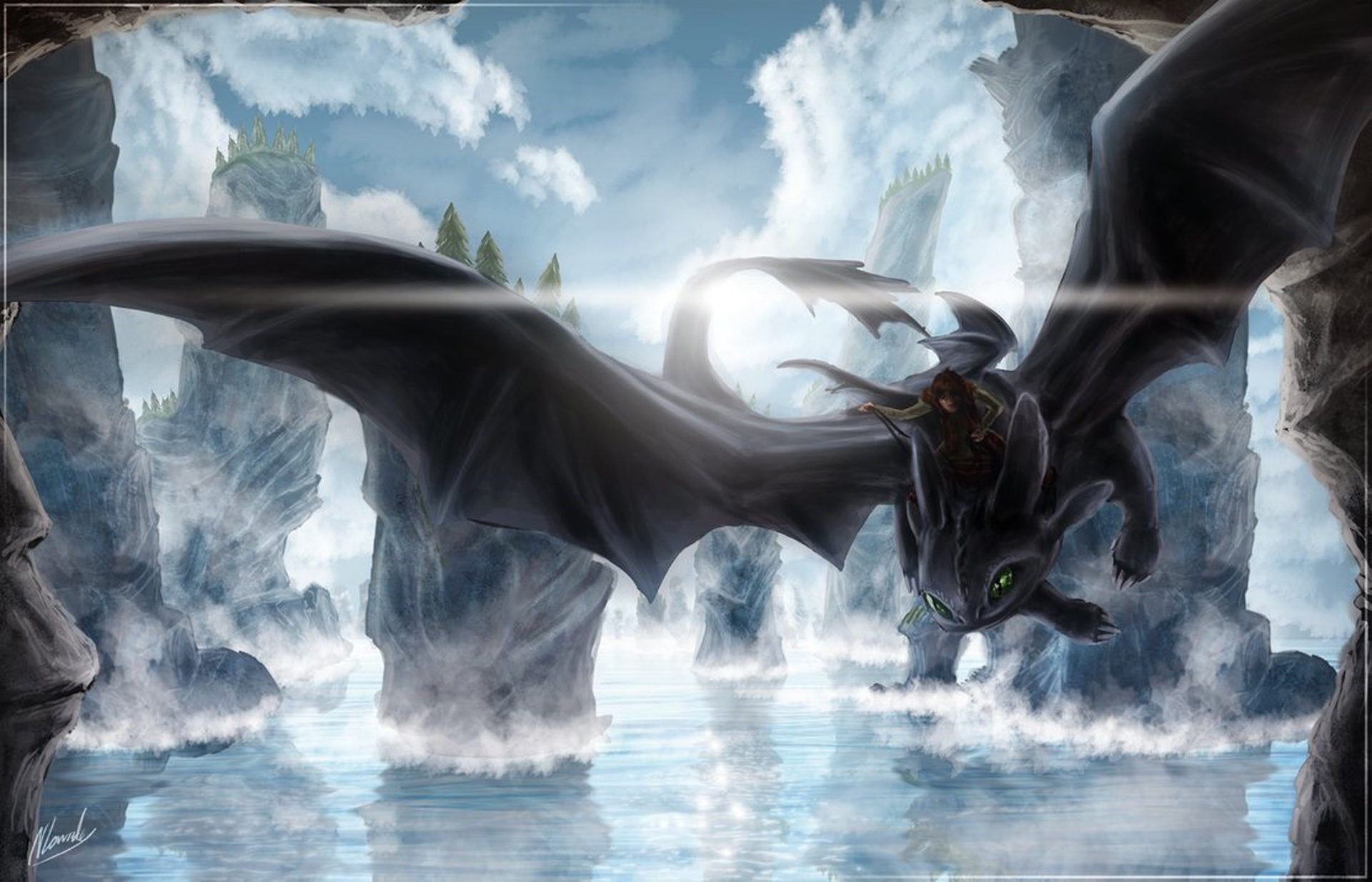 Nightfury How to Train Your Dragon 2 Wallpapers Desktop Backgrounds 1920x1234