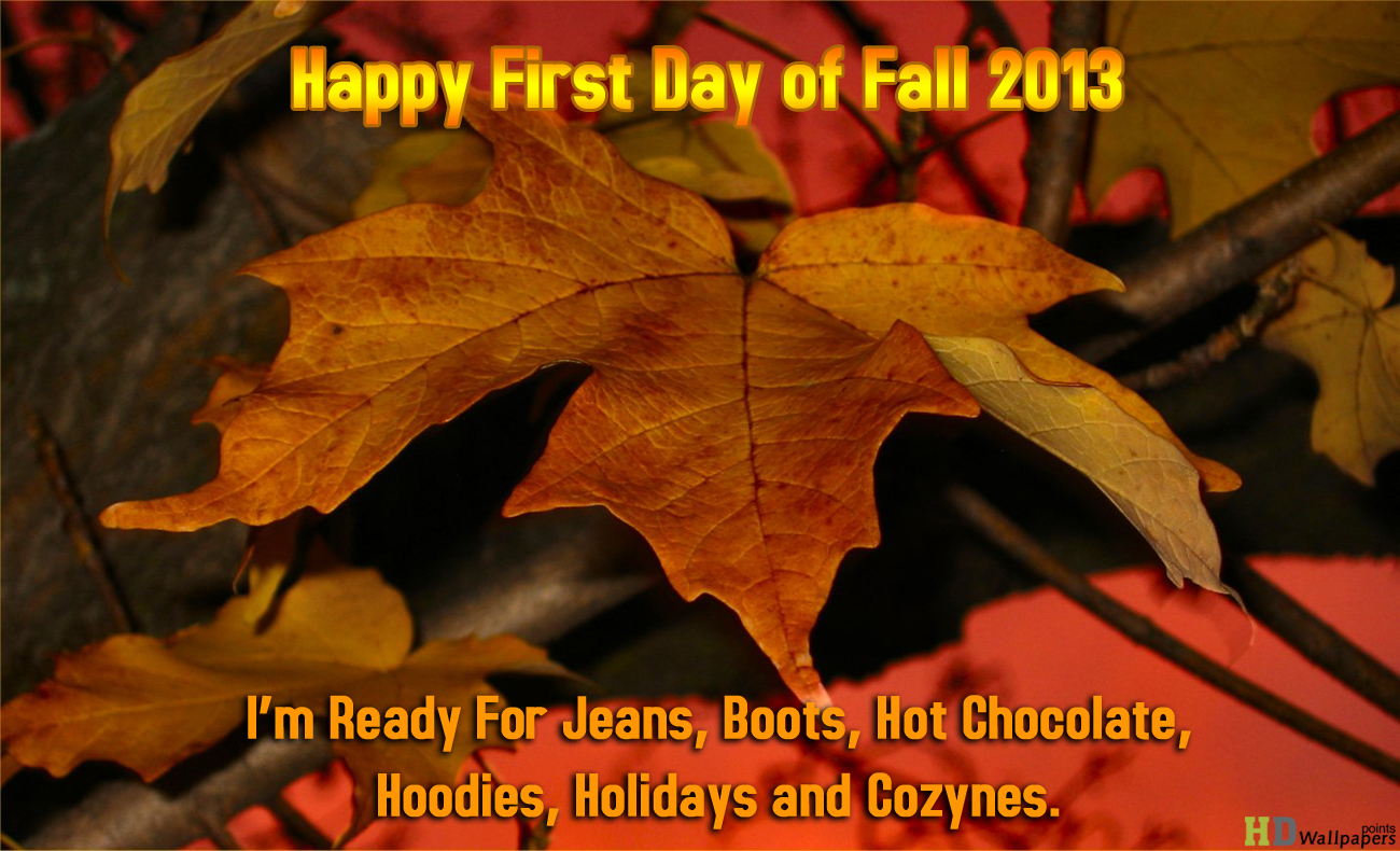 First day of Fall 2013 Countdown HD Wallpaper 1300x790