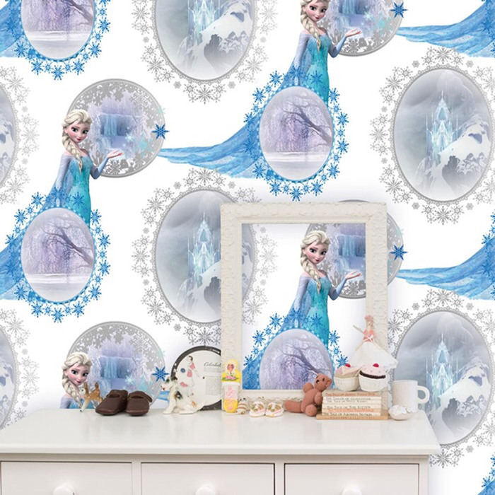 Rooms Disney Frozen Disney Frozen Bedroom Wallpaper   Elsa Scene 700x700