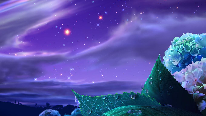 3D Beautiful Night Sky HD Wallpapers Download Hd Wallpapers 2u 1360x768