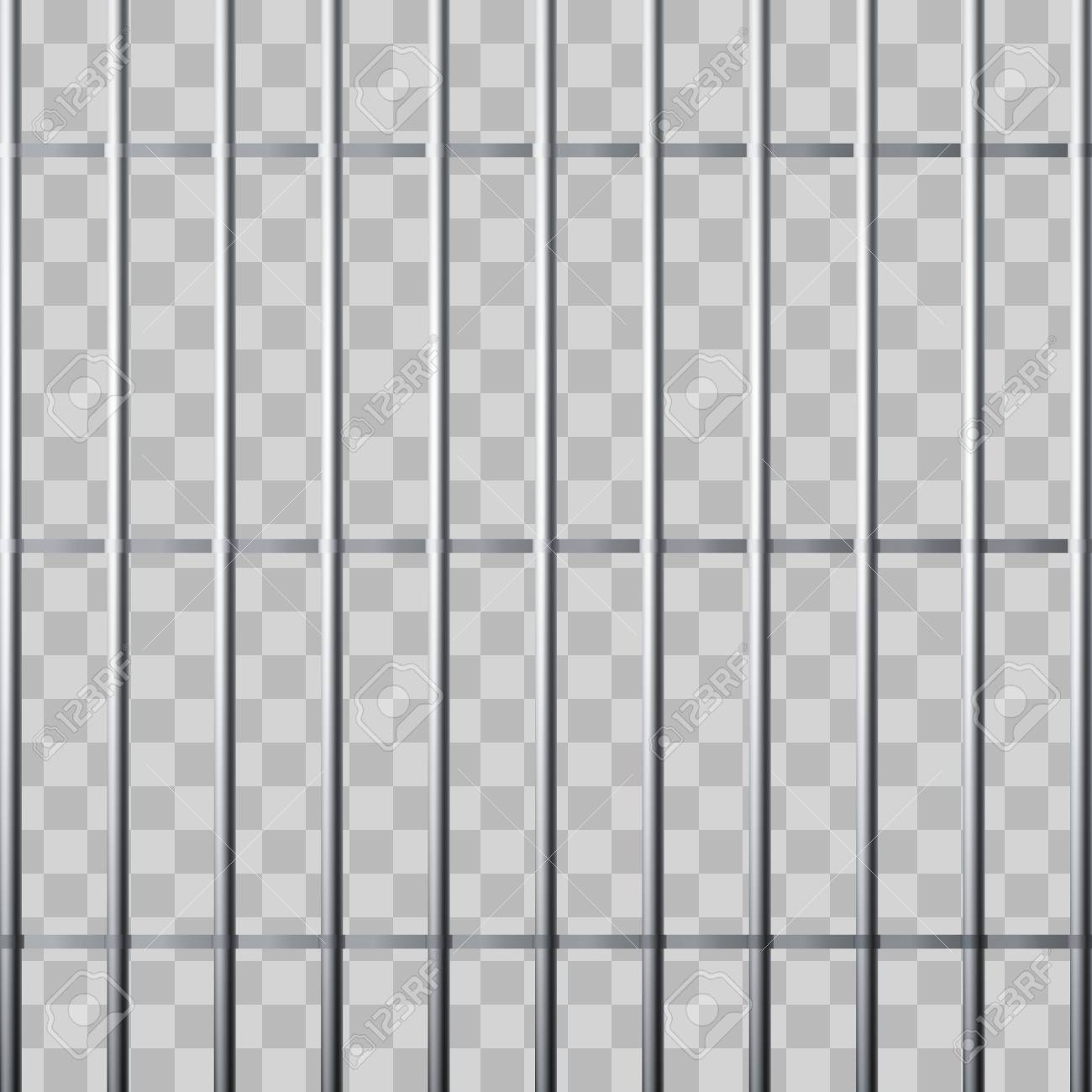 Prison Grid Metallic Cage Isolated On Transparent Background 1300x1300