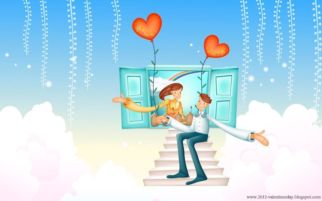 Cartoon Couples Hd Wallpaper