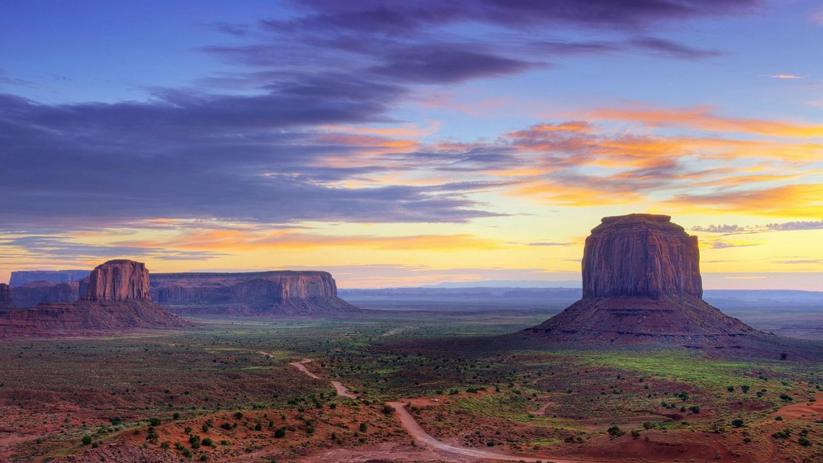 Monument Valley of Colorado Plateau Wallpaper HD Desktop Wallpapers 1600x900