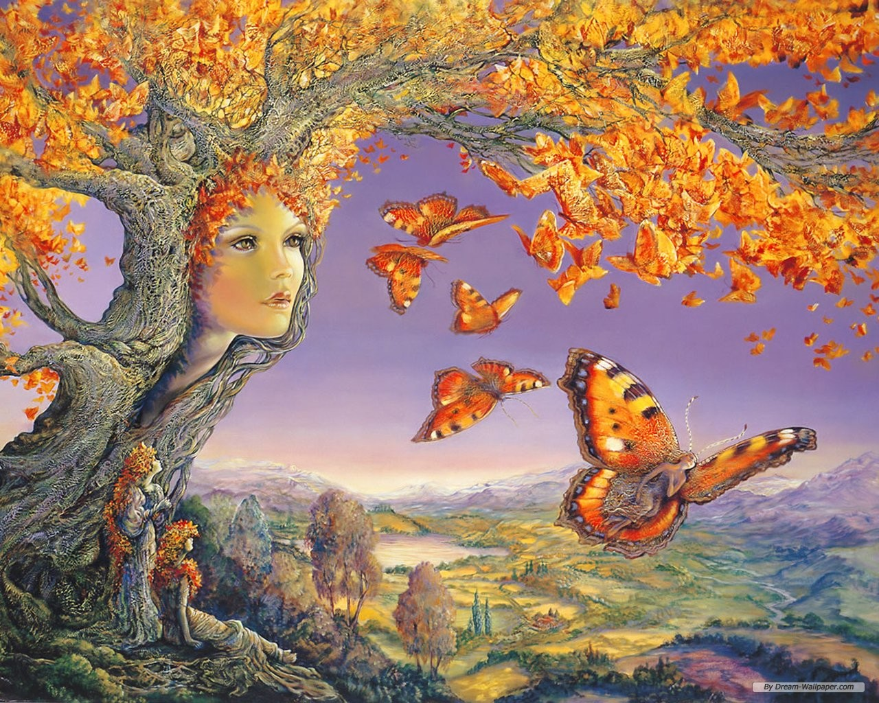 Art wallpaper   Josephine Wall Fantasy Art Illustration wallpaper 1280x1024