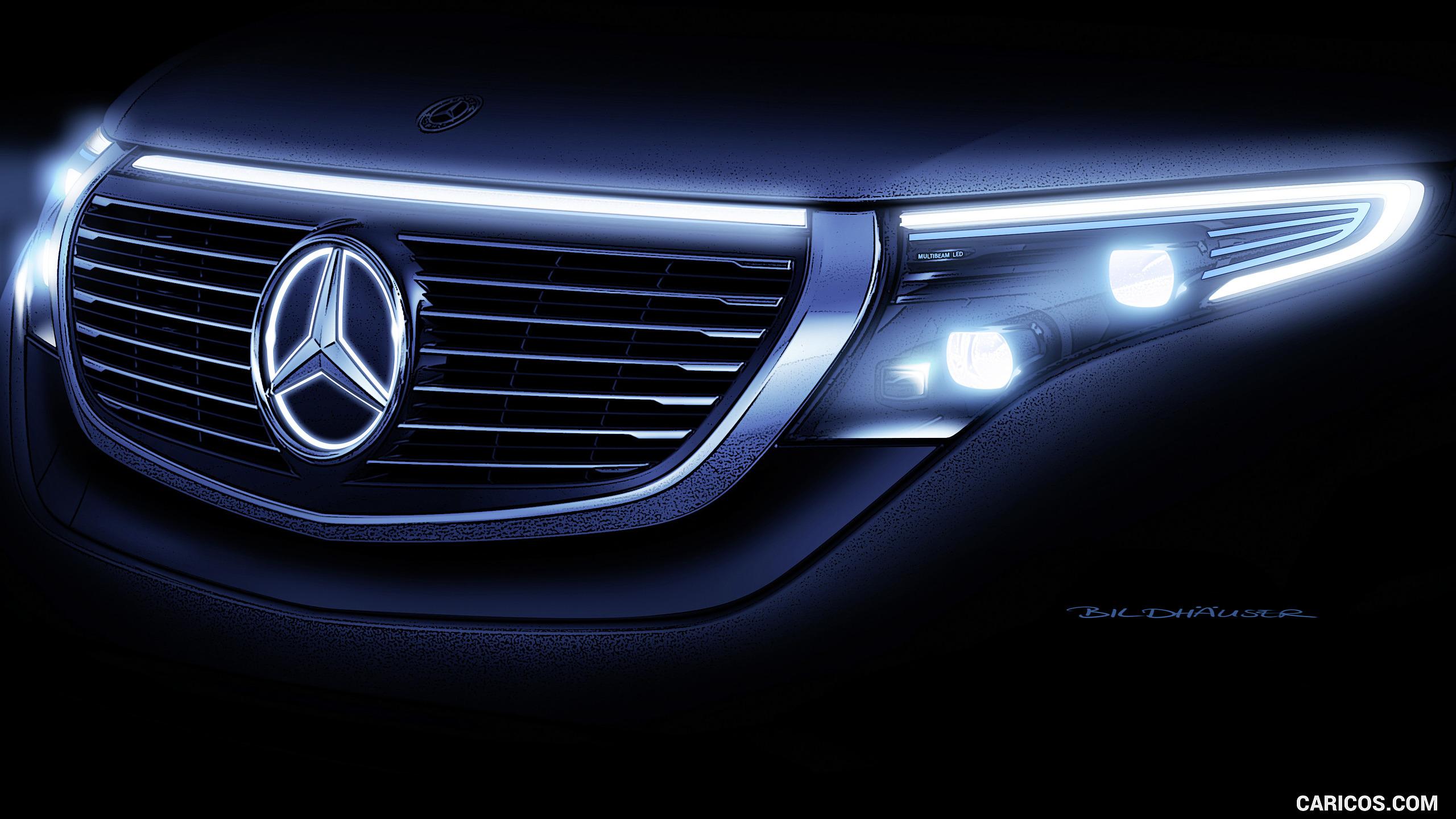 2020 Mercedes Benz EQC   Headlight HD Wallpaper 94 2560x1440