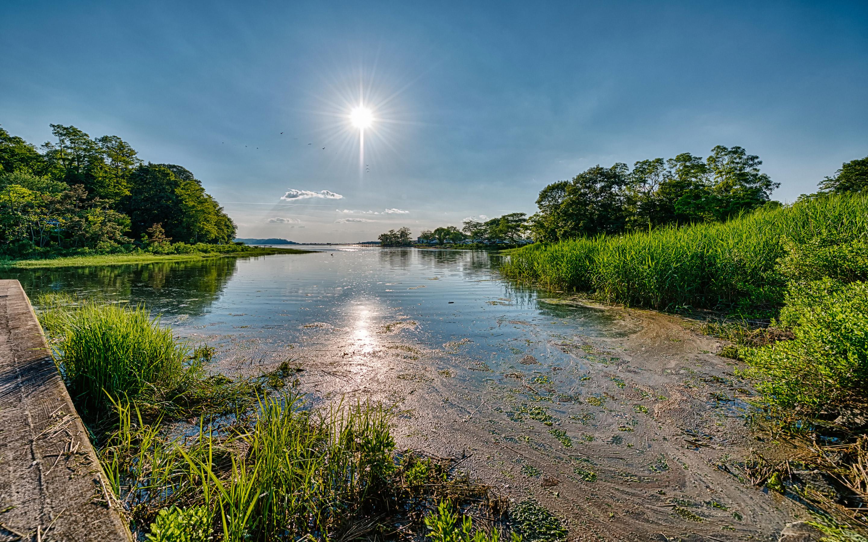 New York Long Island Sky Sun HD Wallpapers 2880x1800