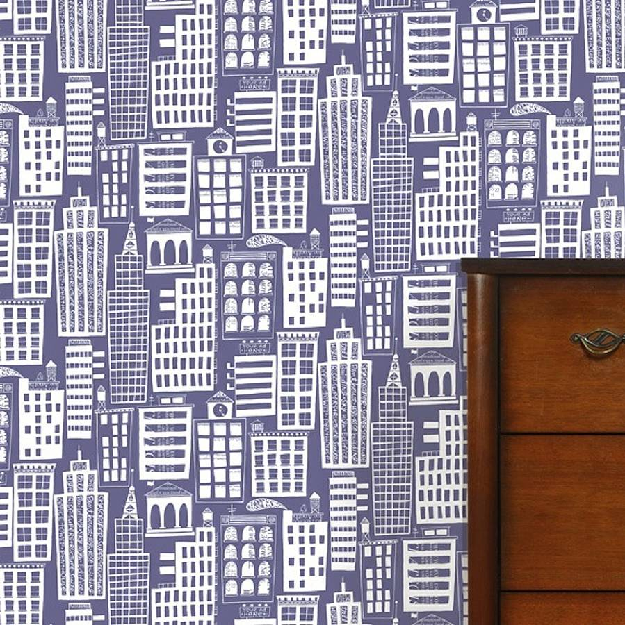 cityscape wallpaper by wall library notonthehighstreetcom 899x900