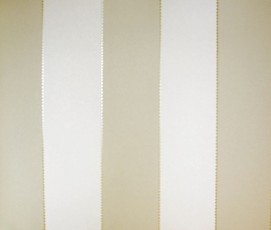 Elisa Stripe Wallpaper Taupe and cream wide stripe wallpaper with gold 534x453