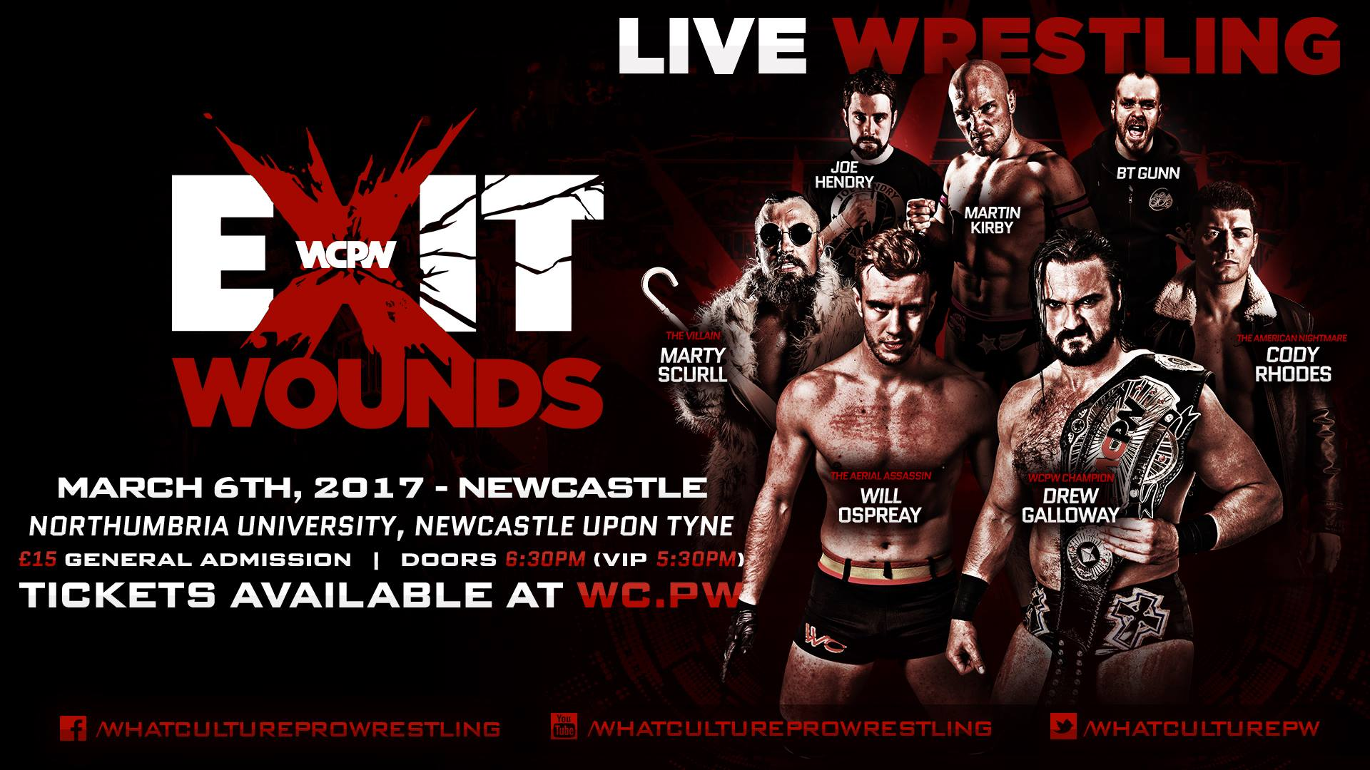 WCPW Exit Wounds Results Drew Galloway VS Will Ospreay WCPW World 1920x1080