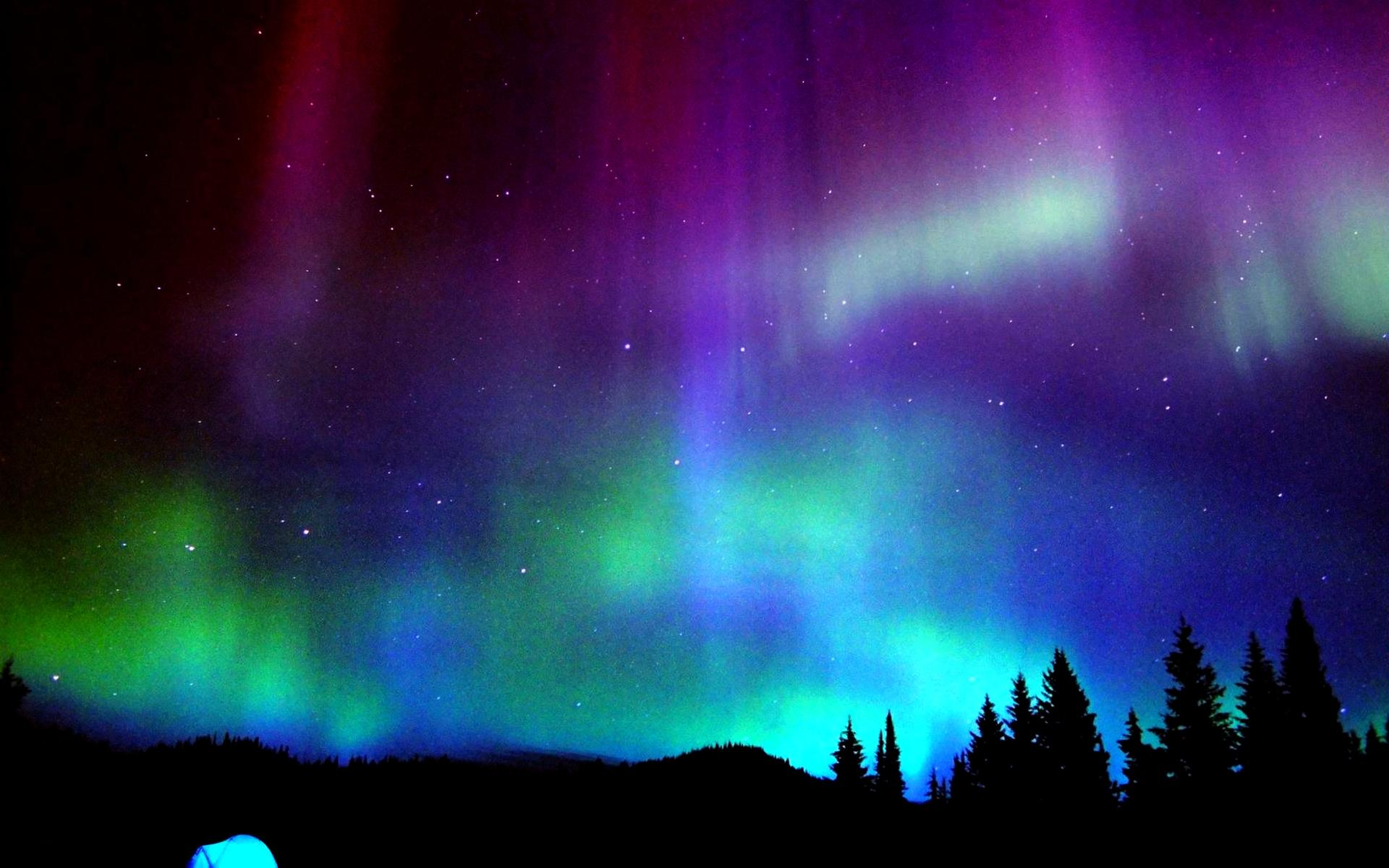 Celebrating the Northern Lights of Aurora Borealis From Behind the 1920x1200