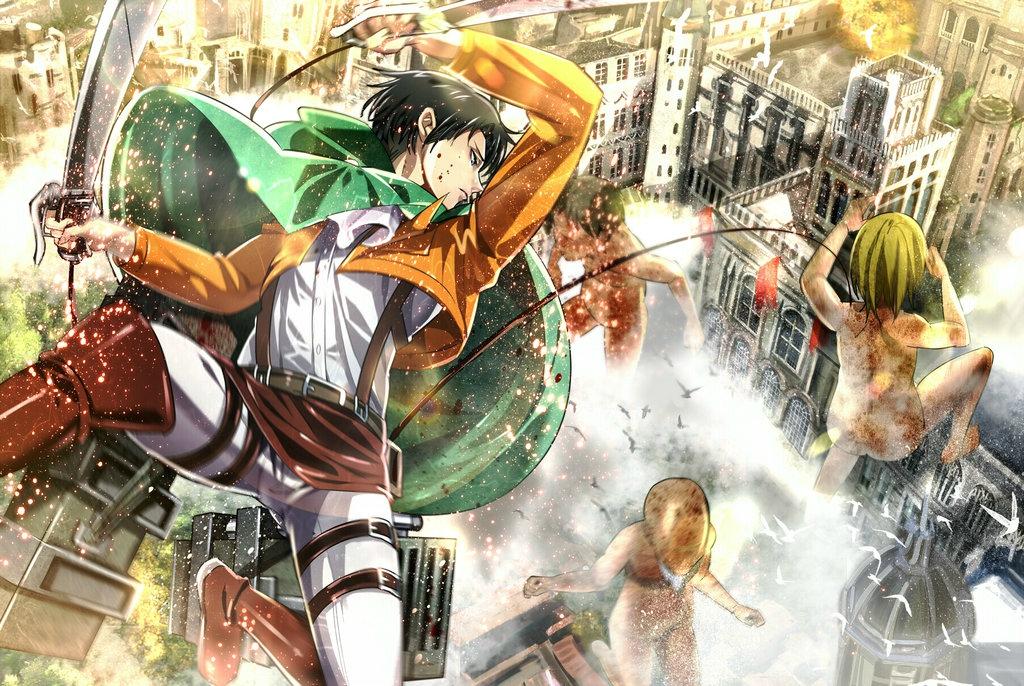 Shingeki no Kyojin ou Attaque des Titans en VOSTFR sous titr 1024x686