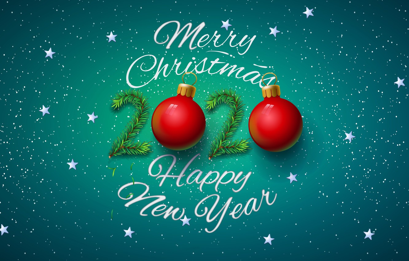 download Wallpaper Christmas New year Happy New Year 1332x850