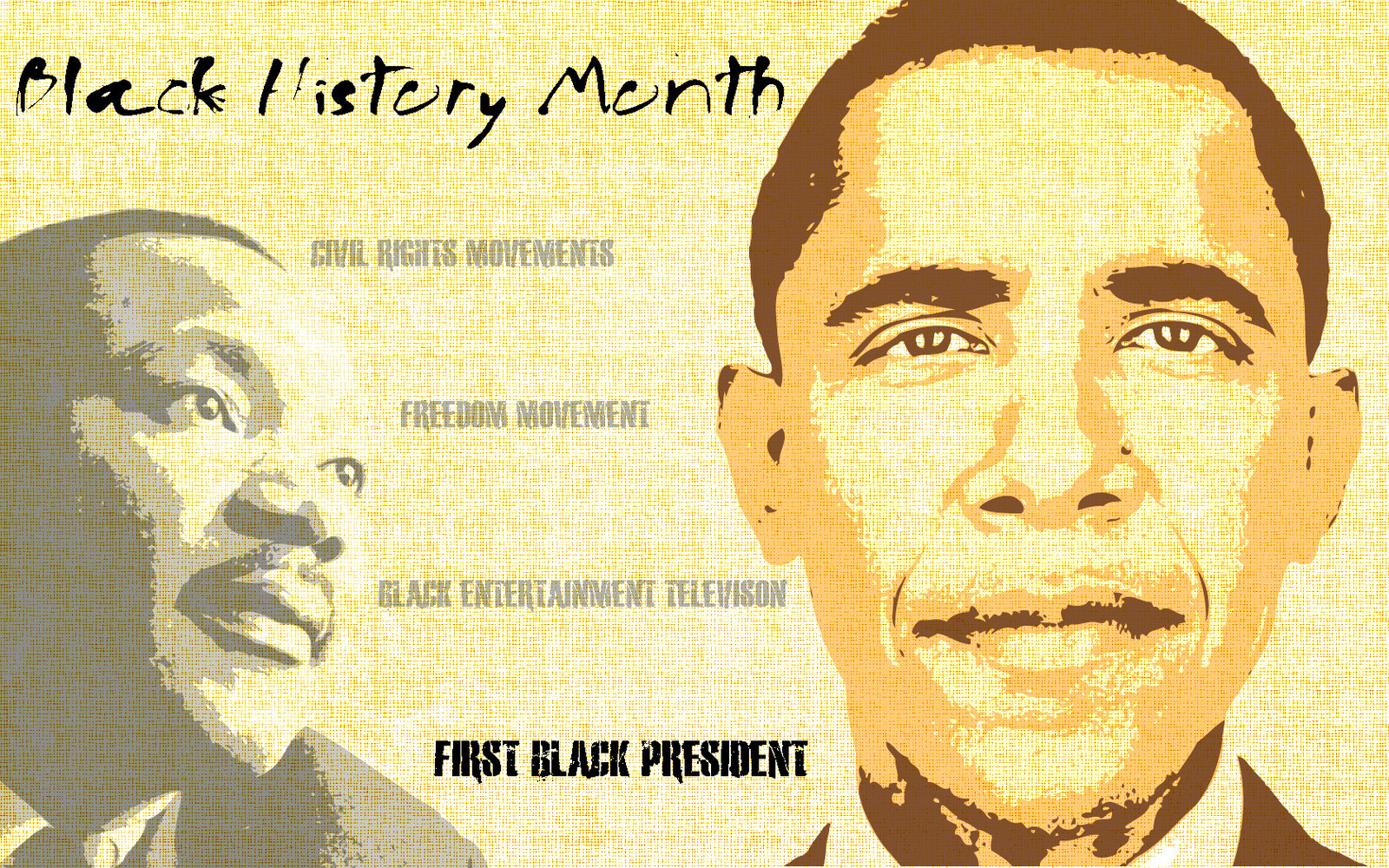 Black History Month 2020 Clipart 1600x1000