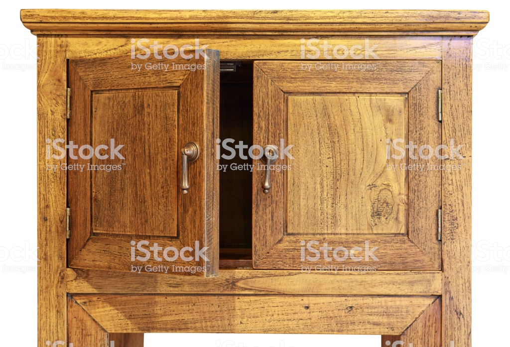 Ancient Design Wooded Cupboard Isolated On White Background Left 1024x697