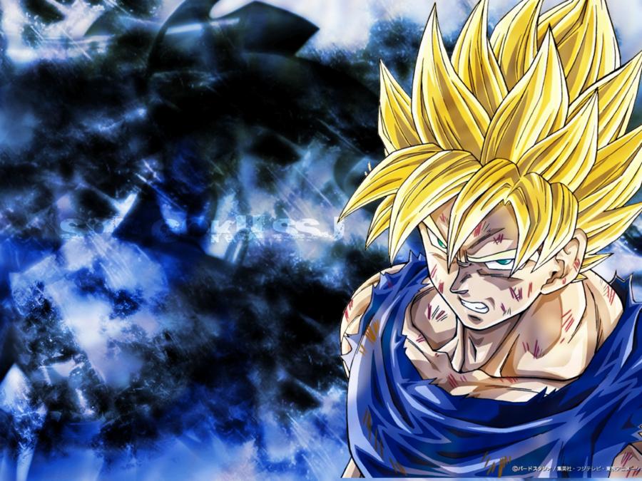 Son Goku Wallpaper 1024x768 by MartikalPL 900x675