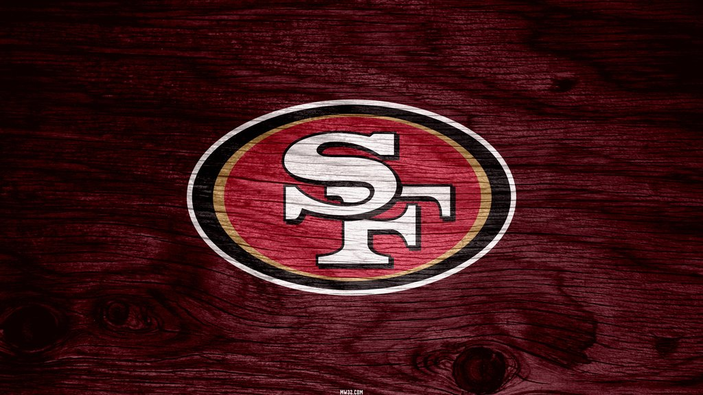 San Francisco 49ers Red Weathered Wood Wallpaper for Samsung Galaxy S3 1024x576