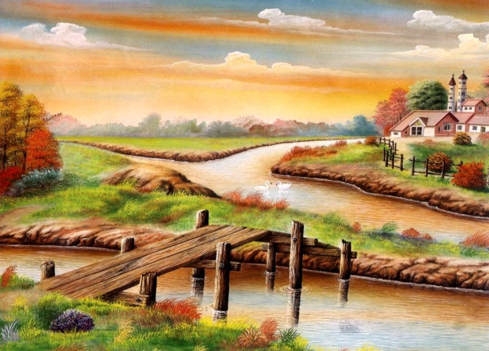Beautiful Village Paintings Wallpapers Download Root Wallpapers 962x691