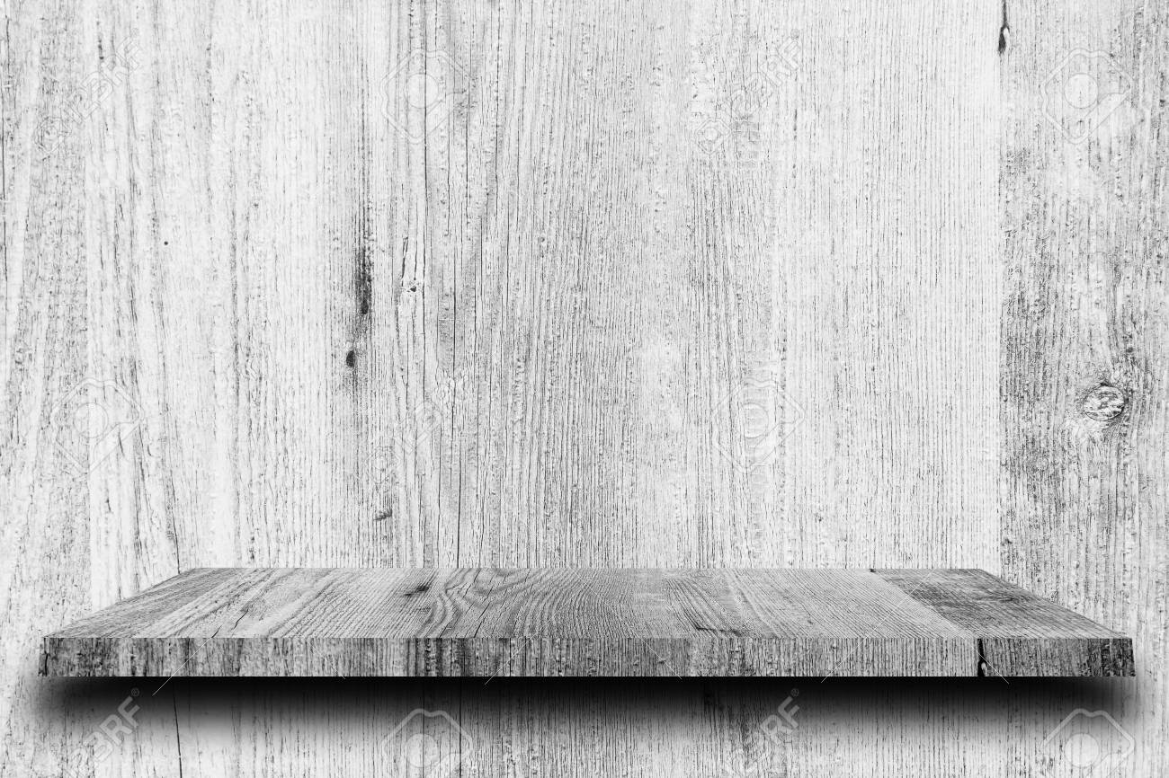 Wooden Shelf And White Backgrounds For Product Display Stock 1300x866