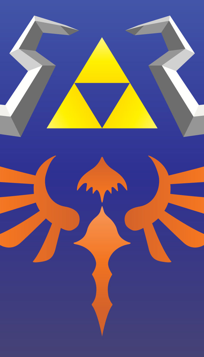Hylian Shield Wallpaper for iPhone 5 Smartphones by CesarIkari on 675x1184