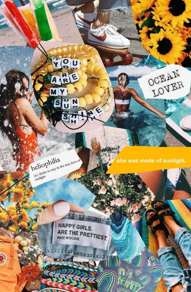 summer vibes Collage background Aesthetic collage Aesthetic 640x979