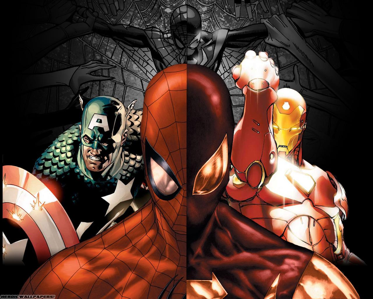 Iron spider wallpaper wallpapersafari - Spiderman and ironman wallpaper ...