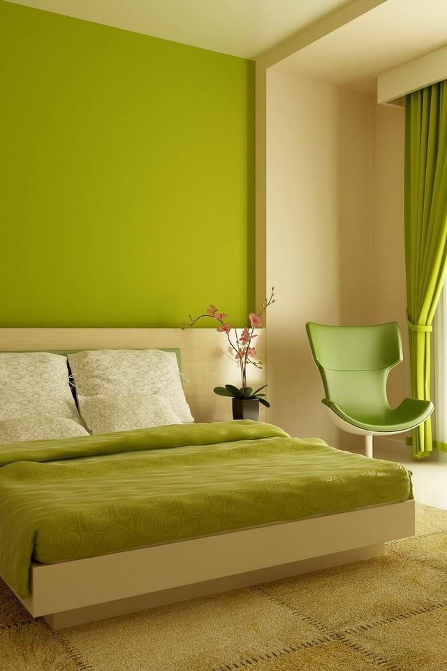 Bedroom in the Green iPhone HD Wallpaper iPhone HD Wallpaper download 640x960